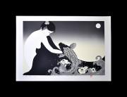 KOJIMA KIMIKO: Moon and Koi