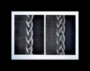 HAMANISHI KATSUNORI:  Object - Knitted Ropes (Diptych)