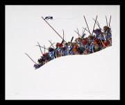TAKEDA HIDEO:  Genpei No.3 - Rising of Arms by Minamoto Yoritomo