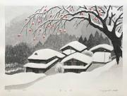 OHTSU KAZUYUKI: Village in Snow